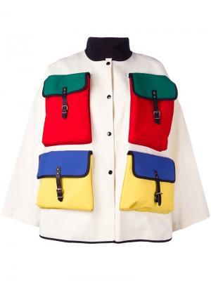 Куртка свободного кроя Bags Jc De Castelbajac Vintage. Цвет: телесный