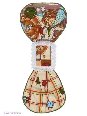 Полотенце Матрешка Метиз. Цвет: бежевый