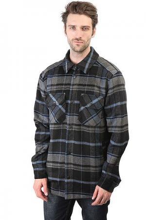 Рубашка утепленная  Shirt-check Black/Grey Anteater. Цвет: черный,серый