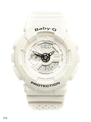 Часы Baby-G BA-110PP-7A CASIO. Цвет: молочный