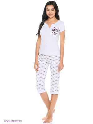 Комплект одежды: футболка, бриджи Mark Formelle. Цвет: серый меланж