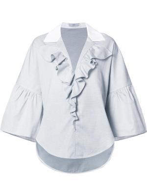 Рубашка Dot Pique Ruffled Tome. Цвет: чёрный