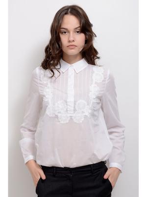 Блуза Малон LINO RUSSO. Цвет: белый