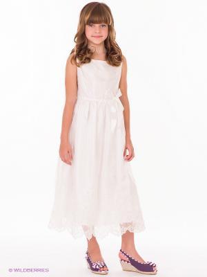 Платье KINDERBUTT. Цвет: белый
