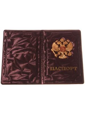 Обложка на паспорт с металлическим гербом, хамелеон Радужки. Цвет: бежевый