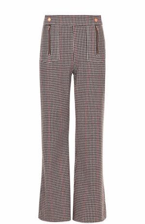 Расклешенные брюки фактурной вязки See by Chloé. Цвет: разноцветный