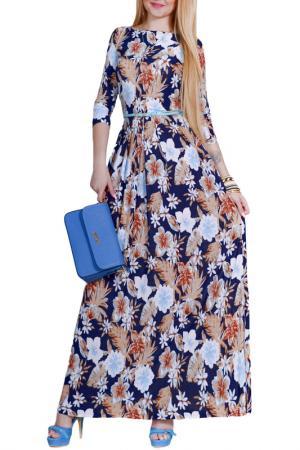Платье Patricia B.. Цвет: шафрановый, голубые цветы