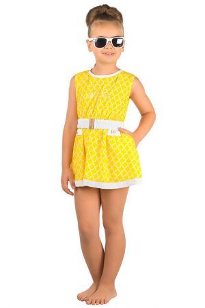 Пляжное платье Arina Festivita by Lora Grig. Цвет: желтый