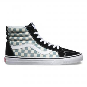 Высокие кеды Checkerboard Sk8-Hi Reissue VANS. Цвет: чёрный/синий/белый