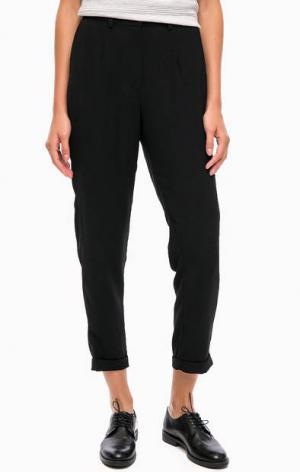 Классические черные брюки зауженного кроя Blend She. Цвет: черный