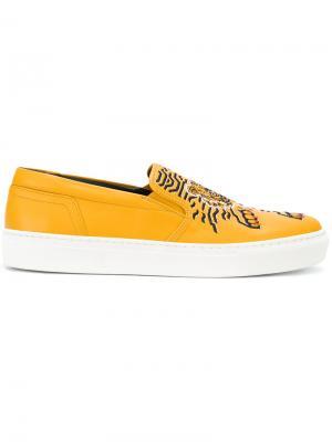 Кеды Tiger Kenzo. Цвет: жёлтый и оранжевый