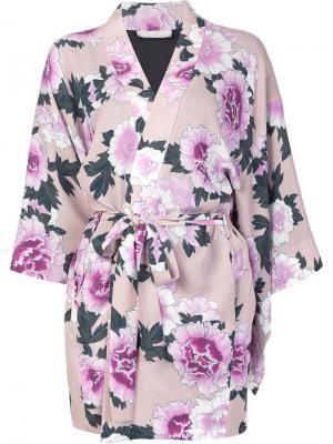 Кимоно Haori Fleur Du Mal. Цвет: розовый и фиолетовый