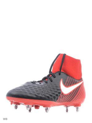 Бутсы MAGISTA ONDA II DF SG Nike. Цвет: черный, красный