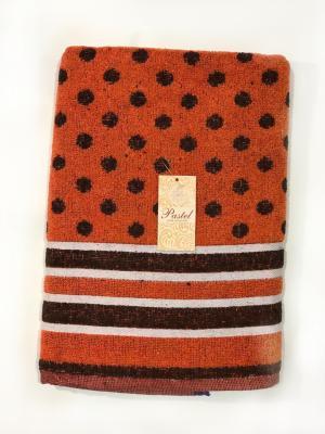 Полотенце 70х140. La Pastel. Цвет: коричневый, оранжевый