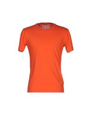 Футболка DANIELE ALESSANDRINI. Цвет: оранжевый