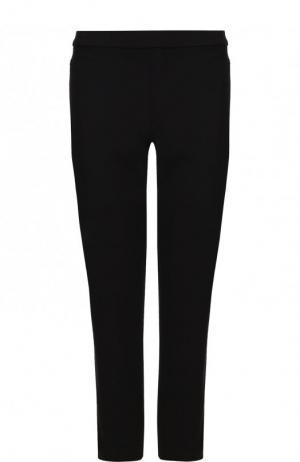 Укороченные однотонные брюки Theory. Цвет: черный