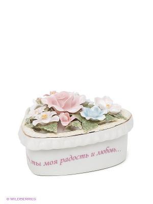 Шкатулка Единственной Pavone. Цвет: белый, бледно-розовый, зеленый