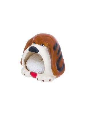 Подставка для губки Собака - верный друг Elan Gallery. Цвет: коричневый, белый, черный
