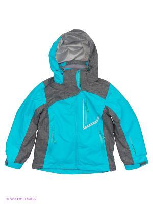 Куртка 3 в 1 High Experience. Цвет: бирюзовый