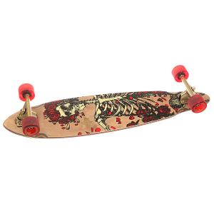 Скейт круизер  Grateful Dead Bertha Longboard Brown 8.75 x 35 (89 см) Dusters. Цвет: мультиколор