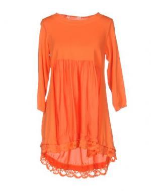 Короткое платье ANIYE BY. Цвет: оранжевый