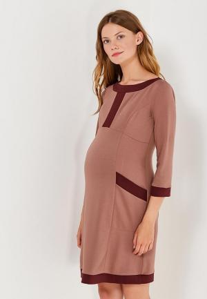 Платье 40 недель. Цвет: коричневый