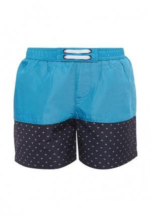 Шорты для плавания Armani Junior. Цвет: синий