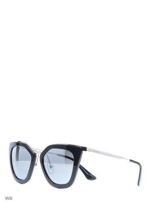 Очки солнцезащитные PRADA. Цвет: синий, серебристый