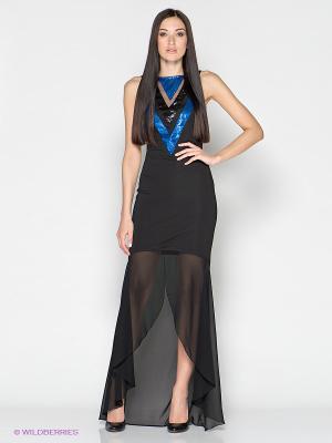 Платье FRENCH HINT. Цвет: черный, синий