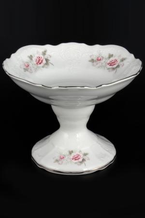 Конфетница 19 см Bohemia. Цвет: белый, розовый, платиновый