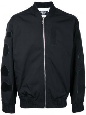 Куртка с заплатками General Idea. Цвет: чёрный
