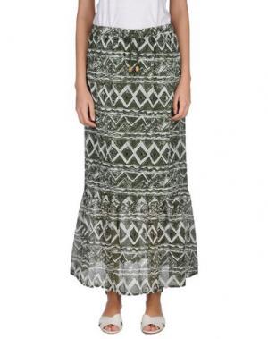 Длинная юбка KATE. Цвет: зеленый-милитари