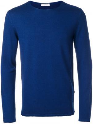 Классический свитер Paolo Pecora. Цвет: синий