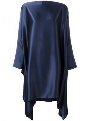 Объемное платье с драпировкой Gianluca Capannolo. Цвет: синий
