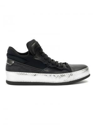 Lace up sneakers Bruno Bordese. Цвет: чёрный