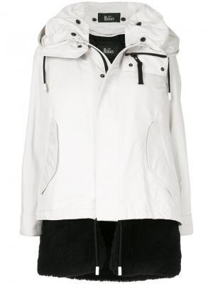 Многослойное пальто The Reracs. Цвет: белый