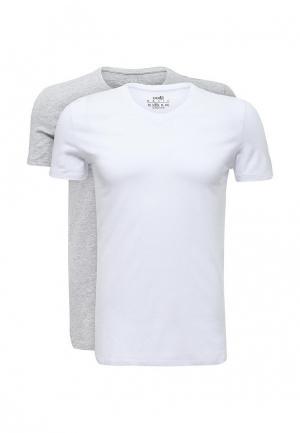 Комплект футболок 2 шт. oodji. Цвет: разноцветный