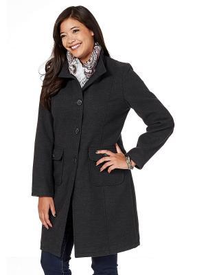 Пальто sheego. Цвет: серый