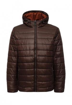 Куртка утепленная Sela. Цвет: коричневый