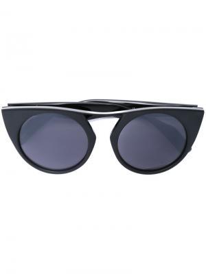 Солнцезащитные очки Yohji Yamamoto. Цвет: чёрный