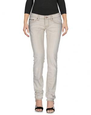 Джинсовые брюки CARE LABEL. Цвет: слоновая кость