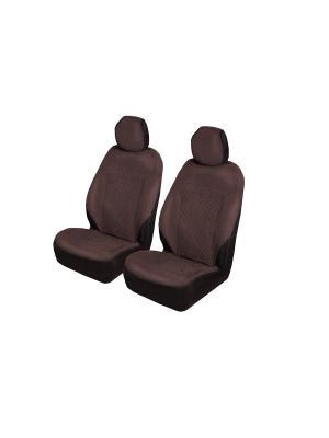 Накидки на передние сиденья AvtoTink. Цвет: коричневый