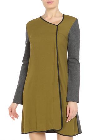 Платье Liviana Conti. Цвет: зелено-серый