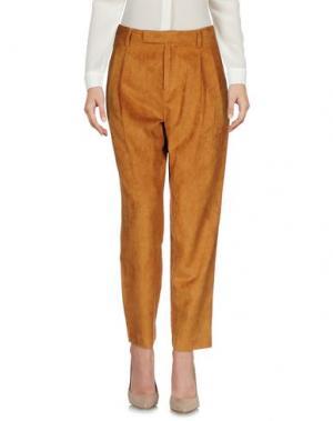 Повседневные брюки WEILI ZHENG. Цвет: верблюжий