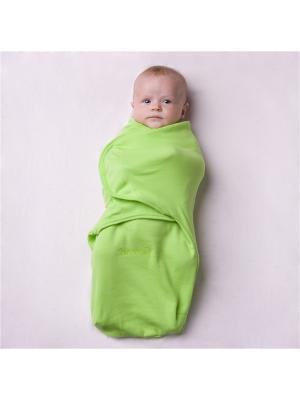 Пеленка на липучках SwaddleFun, Light Green - Нежный салатовый Pecorella. Цвет: салатовый