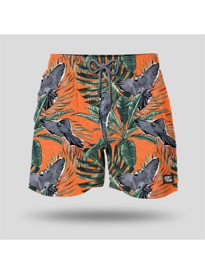 Шорты пляжные мужские JOHN FRANK. Цвет: оранжевый