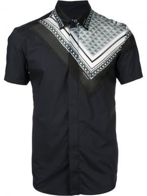 Рубашка с короткими рукавами Yoshio Kubo. Цвет: синий