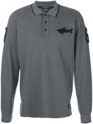 Рубашка-поло с длинными рукавами Paul & Shark. Цвет: серый