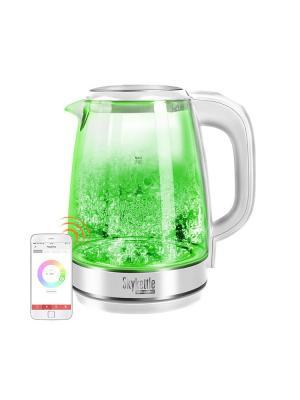 Чайник SkyKettle RK-G201S REDMOND. Цвет: прозрачный, белый