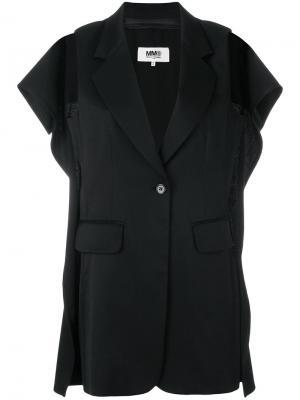 Пиджак без рукавов с вырезными деталями Mm6 Maison Margiela. Цвет: чёрный
